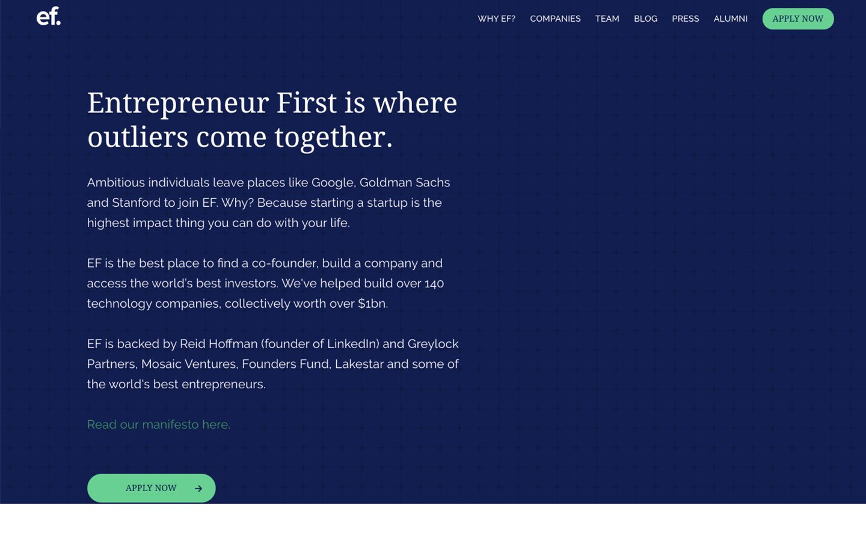 Entrepreneur-First