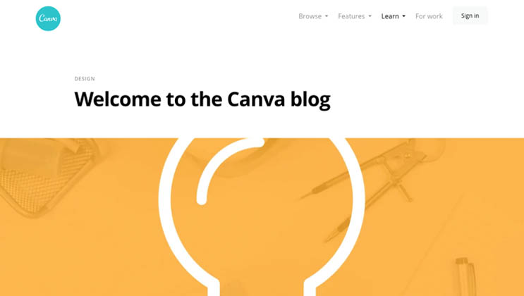 canva blog page