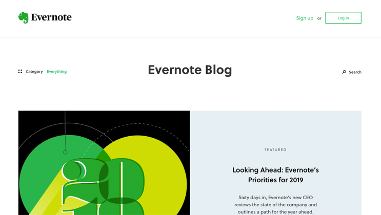 evernote blog page