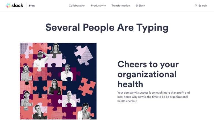 slack blog page